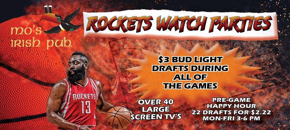 Basketball Rockets Watch Parties 2018 Katy