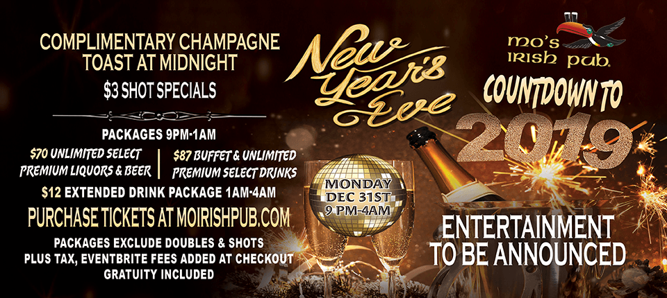 New Years Eve Mo's Irish Pub MKE